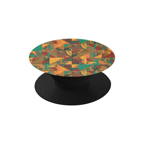 Abstract Safari Print - Black Multi-function Cell Phone Stand