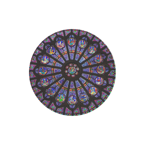 Rose South Window - Notre Dame - Black Multi-function Cell Phone Stand (Set of 2)