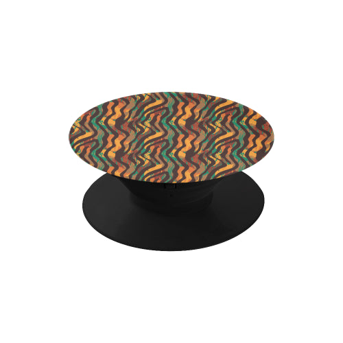 Colorful Animal Stripes - Black Multi-function Cell Phone Stand