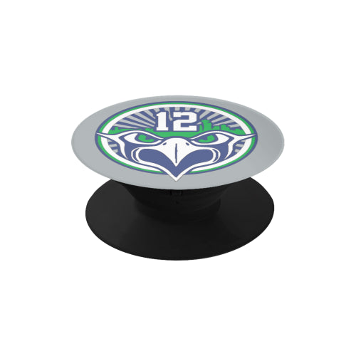 Seattle Seahawks Fan - 12 Screaming Eagle - Black Multi-function Cell Phone Stand (Set of 2)