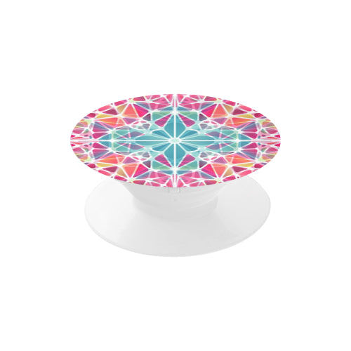 Pink & Blue Kaleidoscope - White Multi-function Cell Phone Stand