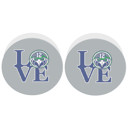 Seattle Seahawks Fan - 12 LOVE - White Multi-function Cell Phone Stand (Set of 2)