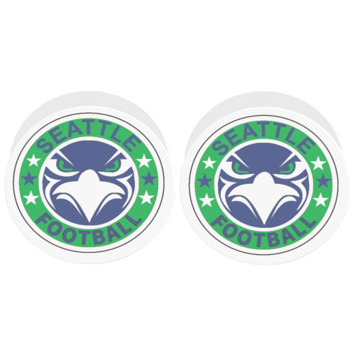 Seattle Seahawks Fan - Fan Badge - White Multi-function Cell Phone Stand (Set of 2)