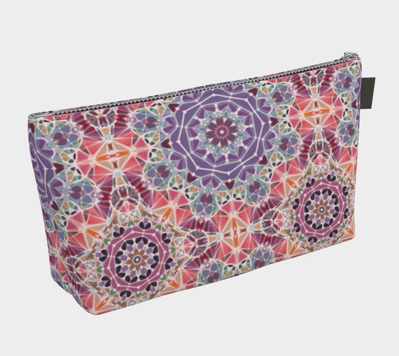 Purple and Pink Kaleidoscope Makeup Bag