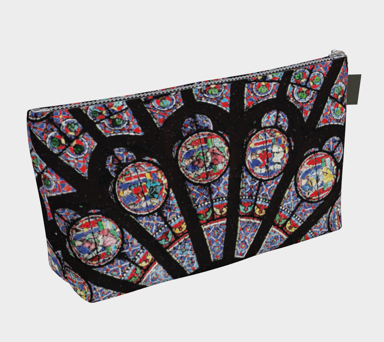Rose South Window, Notre Dame Paris Makeup Bag