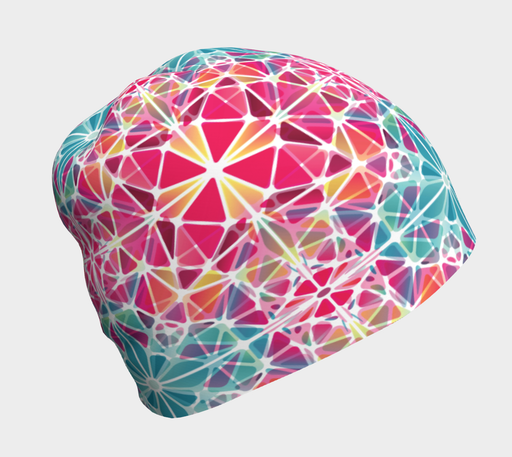 Pink and Blue Kaleidoscope Beanie