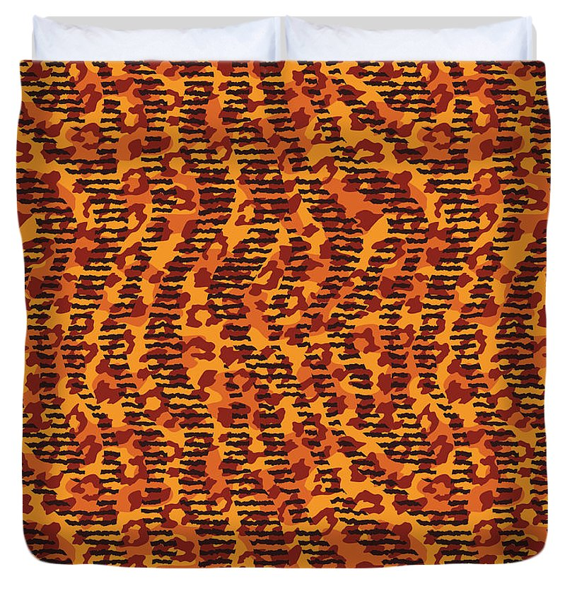 Abstract Animal Stripes And Spots Print - Duvet Cover