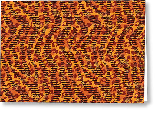 Abstract Animal Stripes And Spots Print - Greeting Card