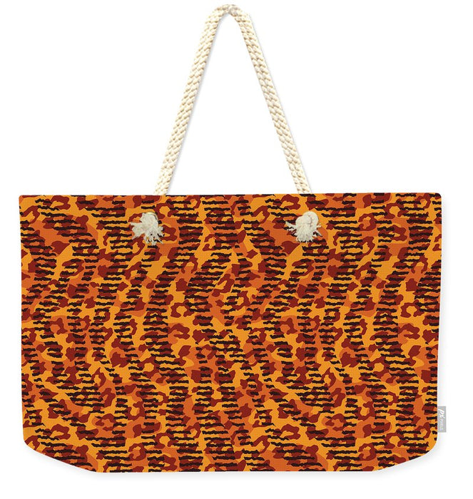 Abstract Animal Stripes And Spots Print - Weekender Tote Bag