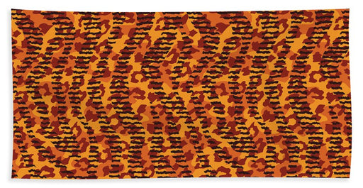 Abstract Animal Stripes And Spots Print - Bath Towel