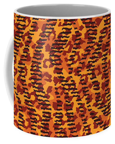 Abstract Animal Stripes And Spots Print - Mug