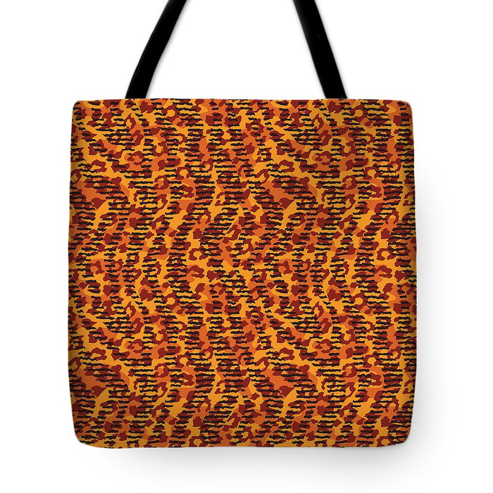Abstract Animal Stripes And Spots Print - Tote Bag