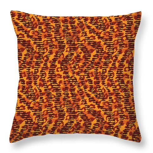 Abstract Animal Stripes And Spots Print - Throw Pillow