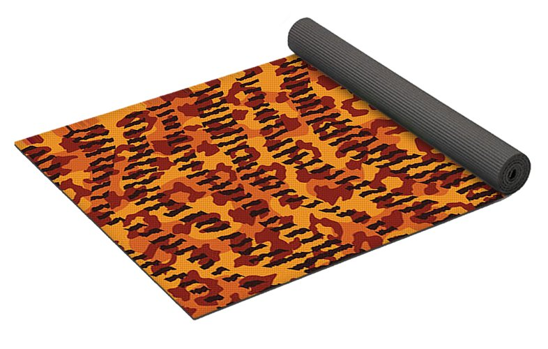 Abstract Animal Stripes And Spots Print - Yoga Mat