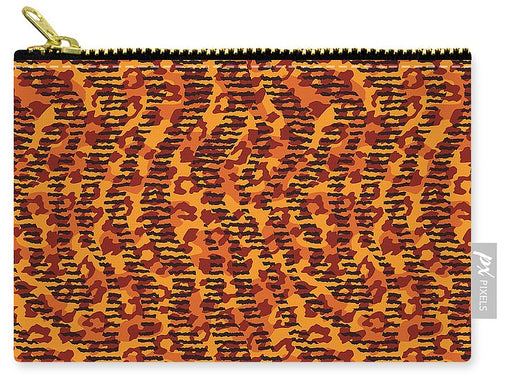 Abstract Animal Stripes And Spots Print - Carry-All Pouch