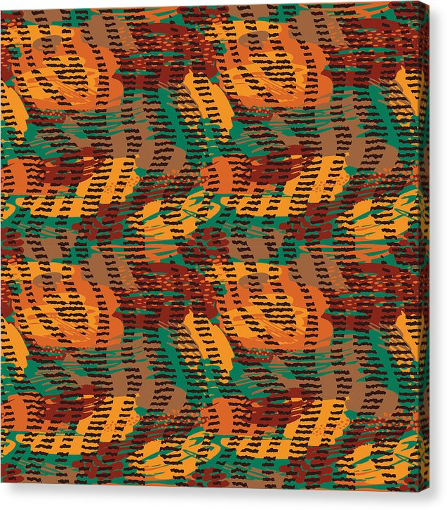 Abstract Animal Stripes - Canvas Print