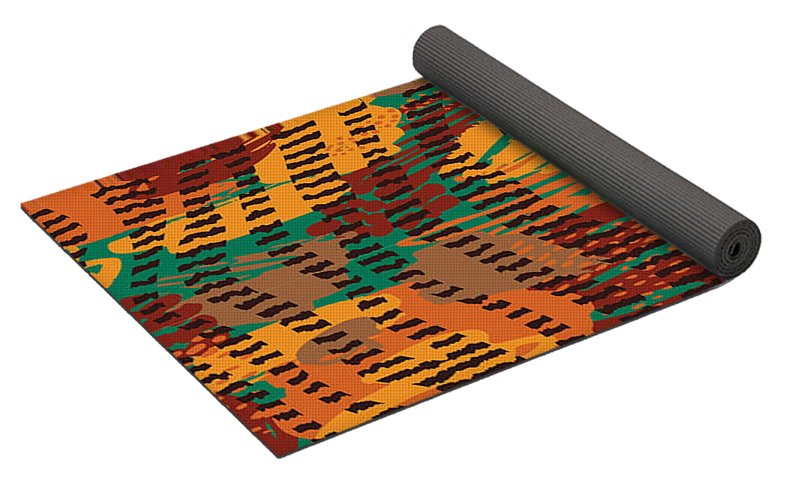 Abstract Animal Stripes - Yoga Mat