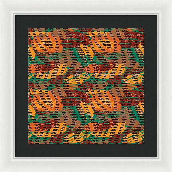 Abstract Animal Stripes - Framed Print