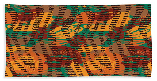 Abstract Animal Stripes - Beach Towel
