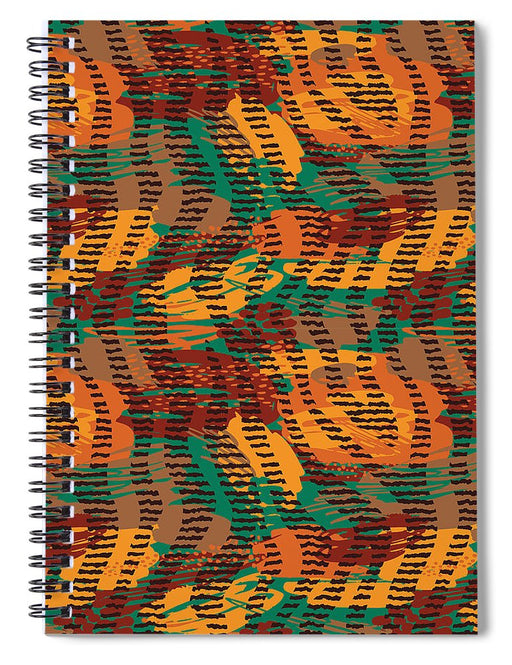 Abstract Animal Stripes - Spiral Notebook