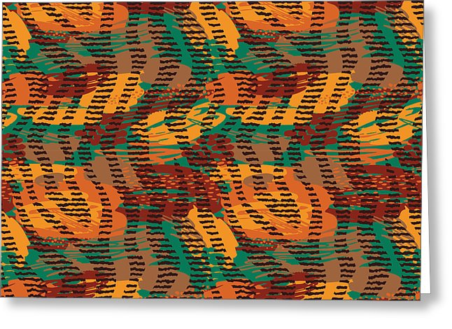 Abstract Animal Stripes - Greeting Card