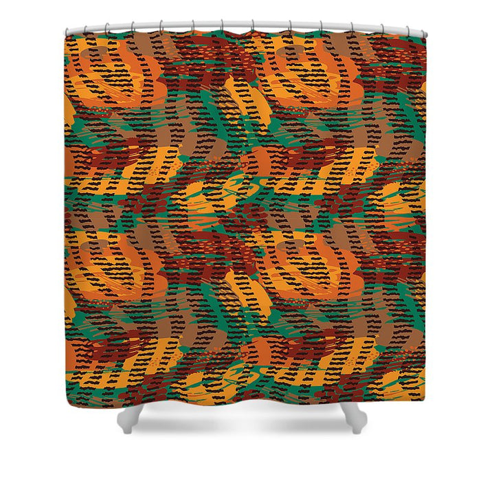 Abstract Animal Stripes - Shower Curtain