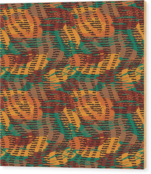 Abstract Animal Stripes - Wood Print
