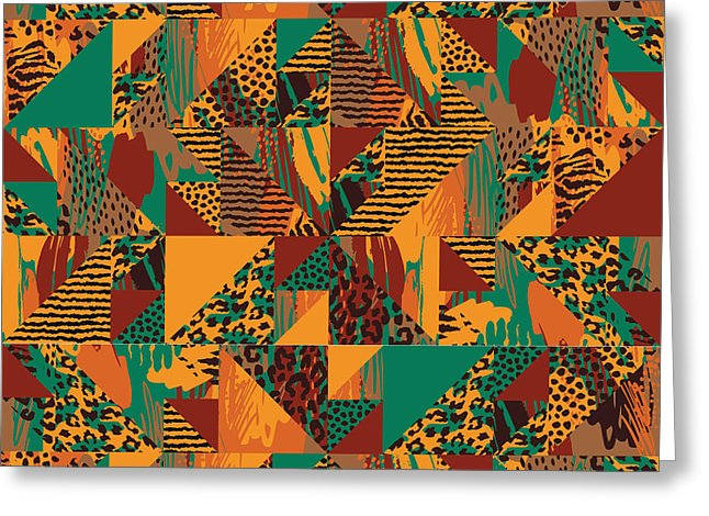Abstract Safari Print - Greeting Card