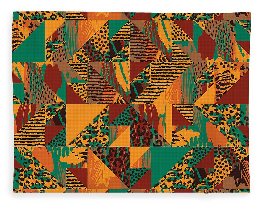 Abstract Safari Print - Blanket