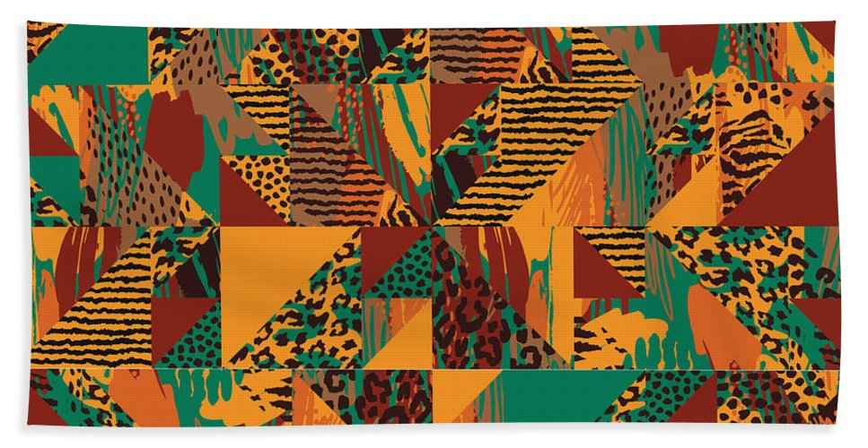 Abstract Safari Print - Bath Towel