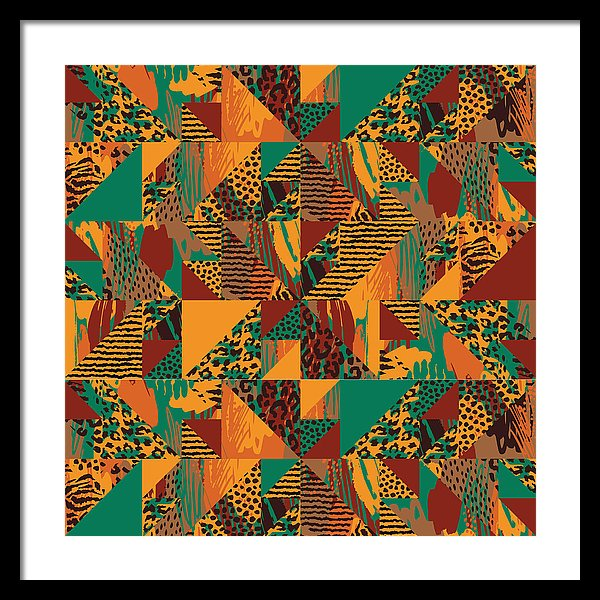 Abstract Safari Print - Framed Print