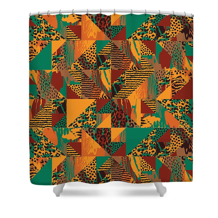 Abstract Safari Print - Shower Curtain