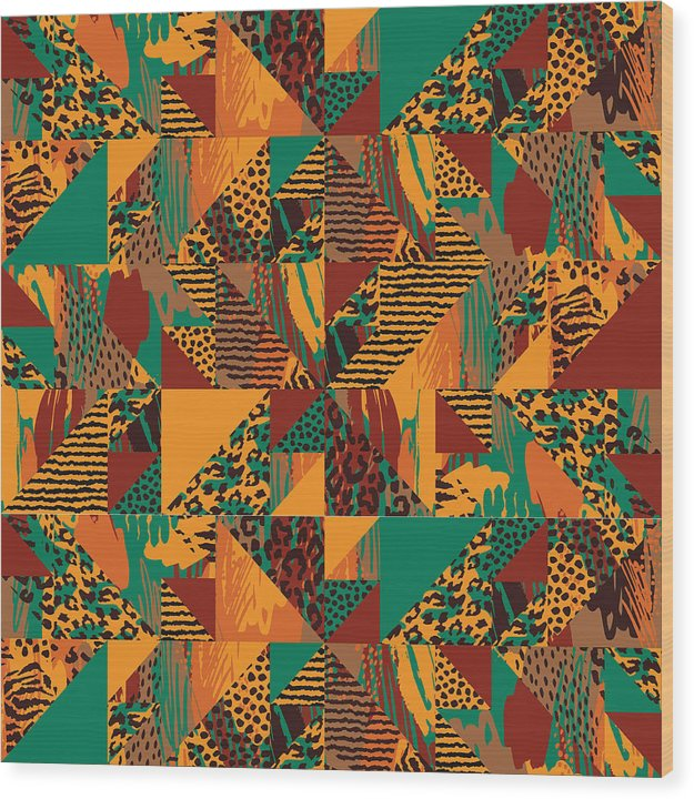 Abstract Safari Print - Wood Print