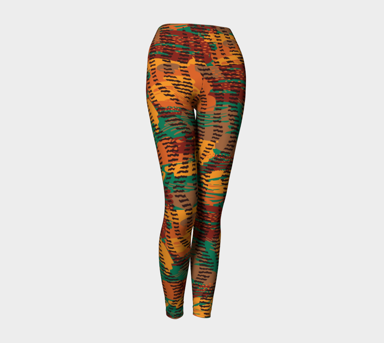 Abstract Animal Stripes Yoga Leggings