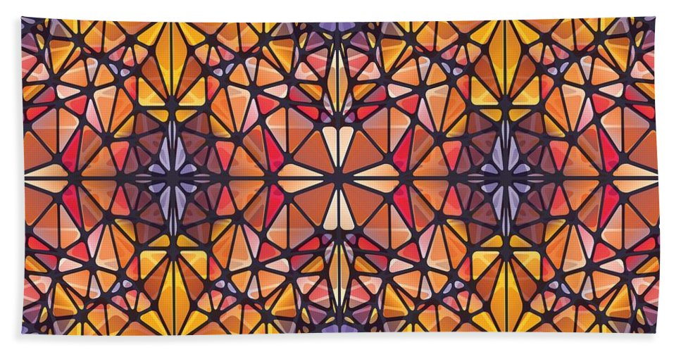 Amber Kaleidoscope - Bath Towel