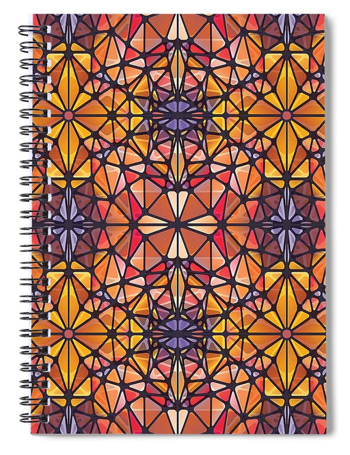Amber Kaleidoscope - Spiral Notebook