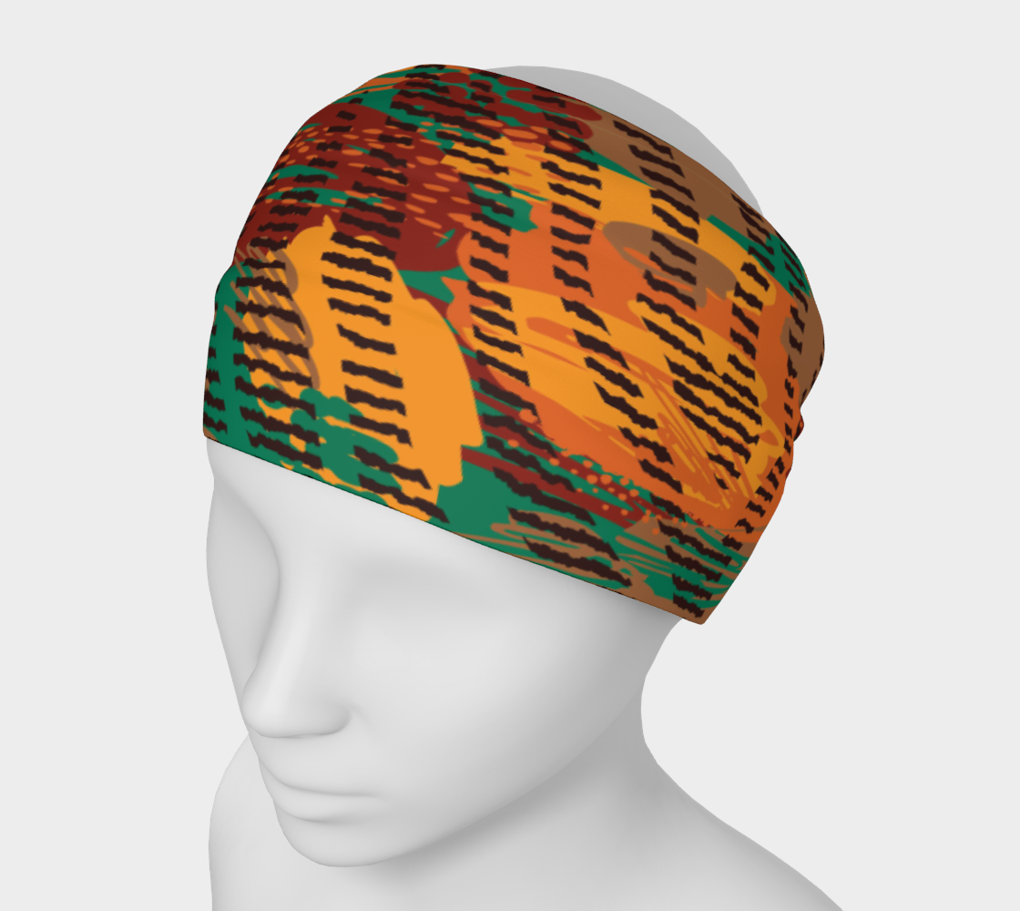 Abstract Animal Stripes Headband