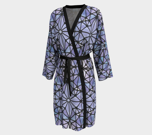 Purple and Blue Kaleidoscope Peignoir