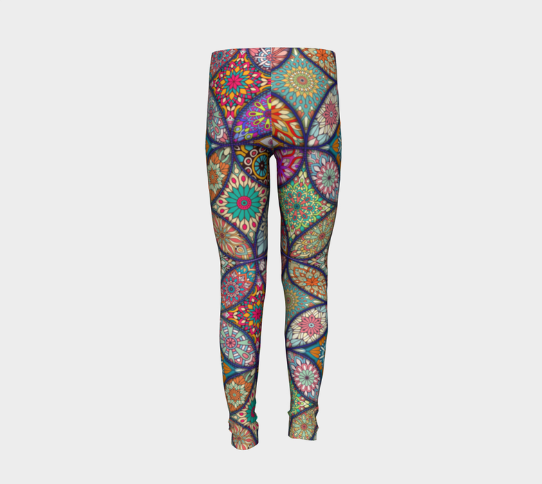 Vibrant Mandalas Youth Leggings