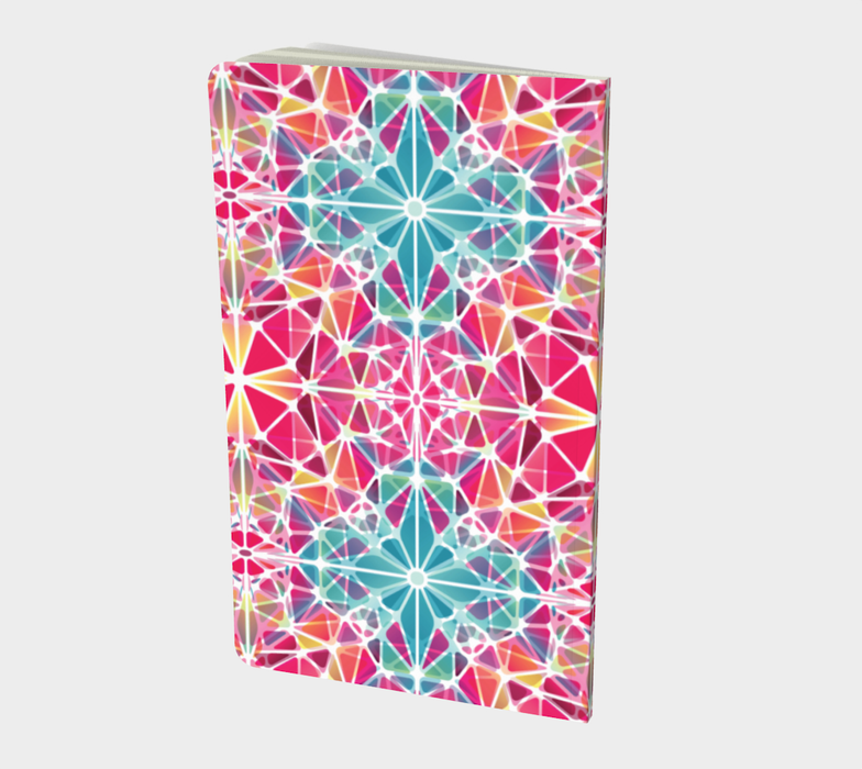 Pink and Blue Kaleidoscope Notebook - Small