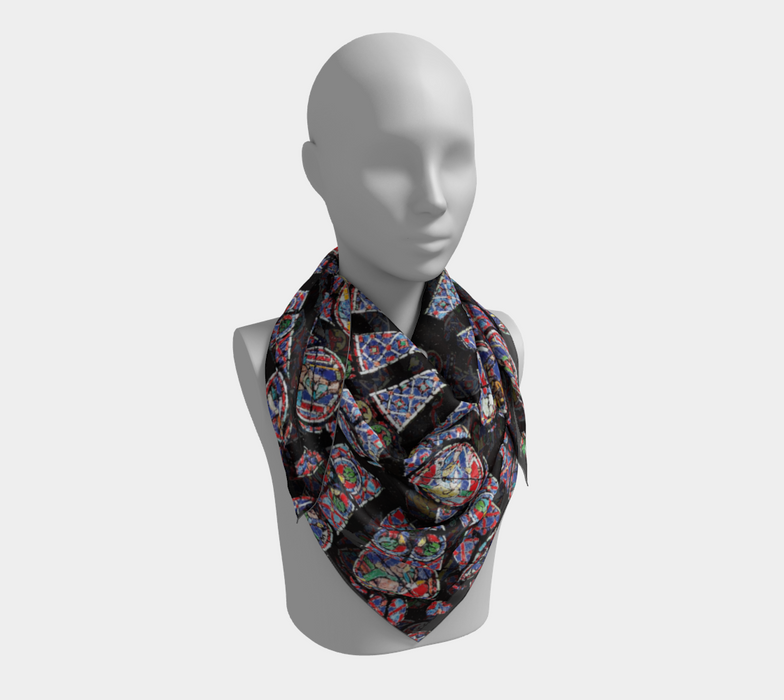 Rose South Window, Notre Dame Paris Square Scarf