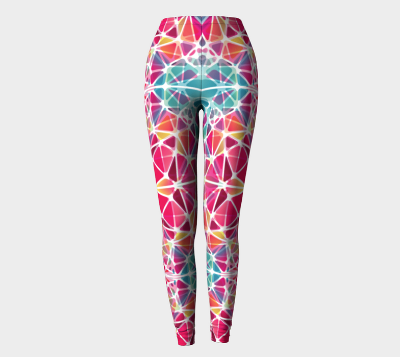 Pink and Blue Kaleidoscope Leggings