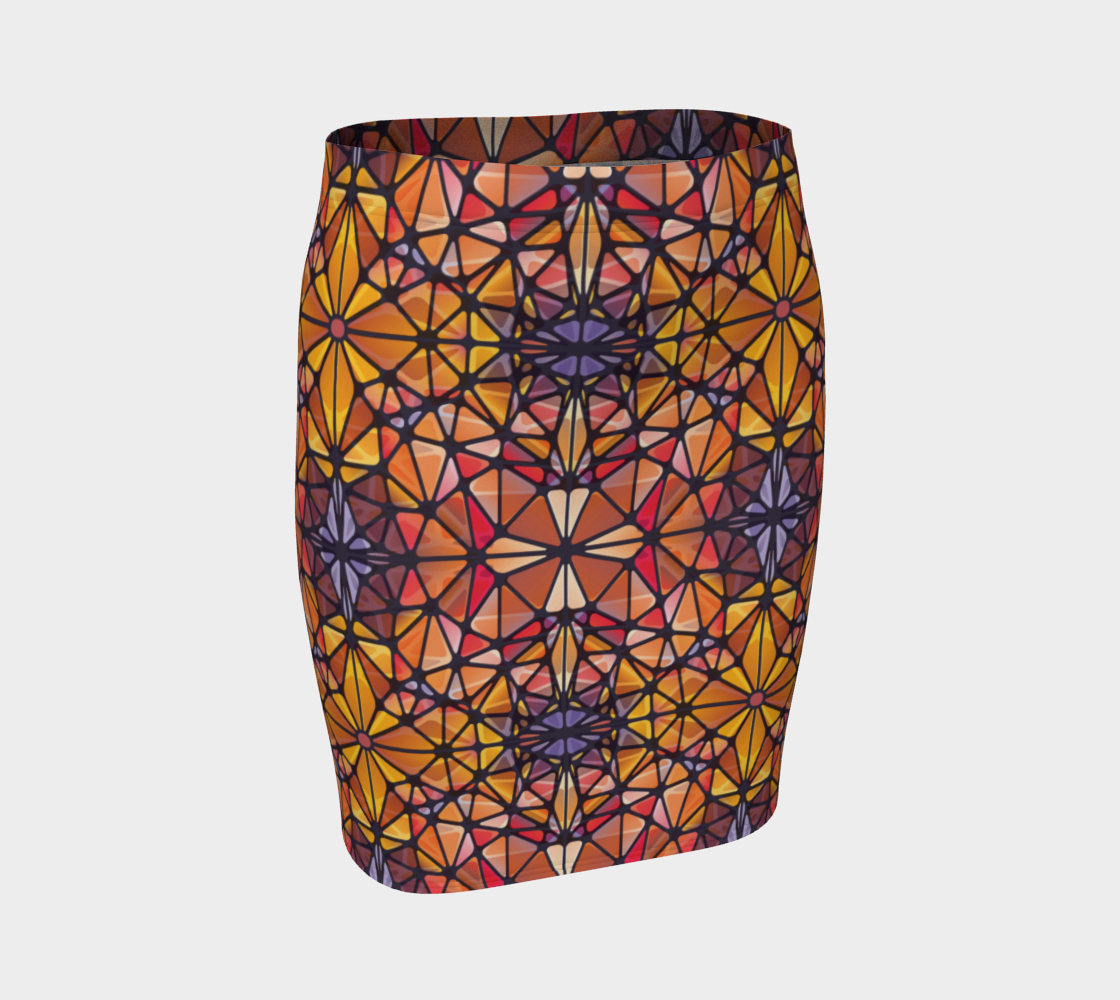 Amber Kaleidoscope Fitted Skirt