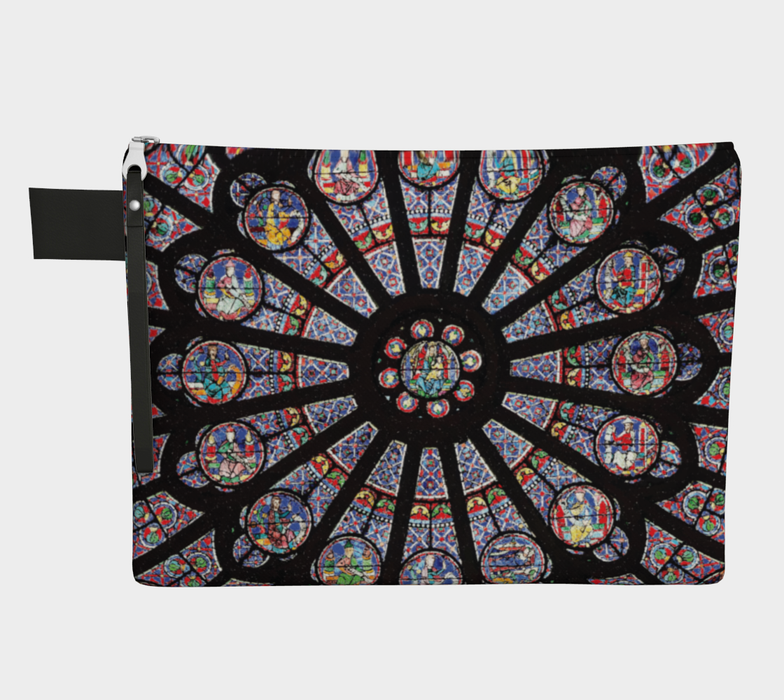 Rose South Window, Notre Dame Paris Zippered Carry-All