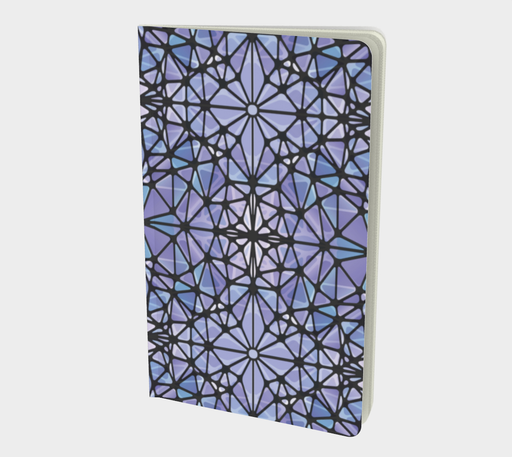 Purple and Blue Kaleidoscope Notebook - Small