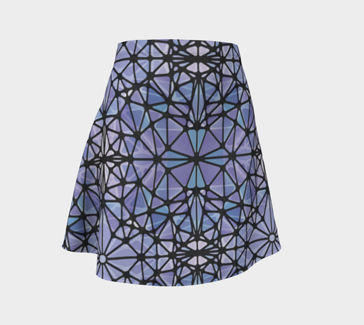 Purple and Blue Kaleidoscope Flare Skirt