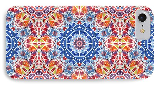 Blue And Orange Kaleidoscope - Phone Case