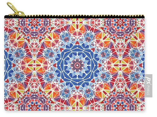 Blue And Orange Kaleidoscope - Carry-All Pouch
