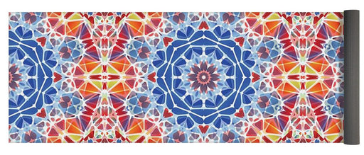 Blue And Orange Kaleidoscope - Yoga Mat