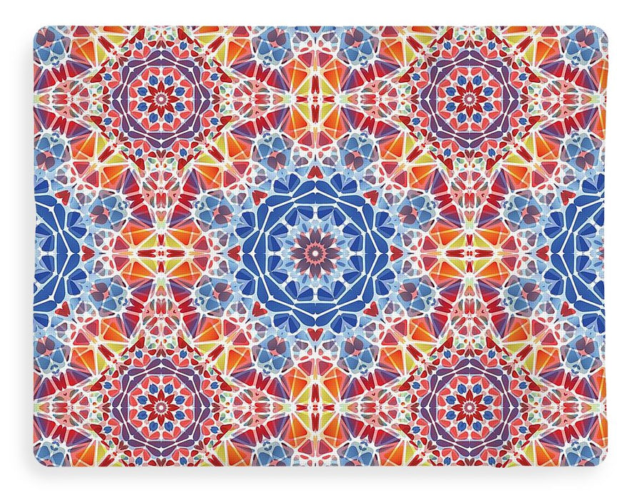 Blue And Orange Kaleidoscope - Blanket